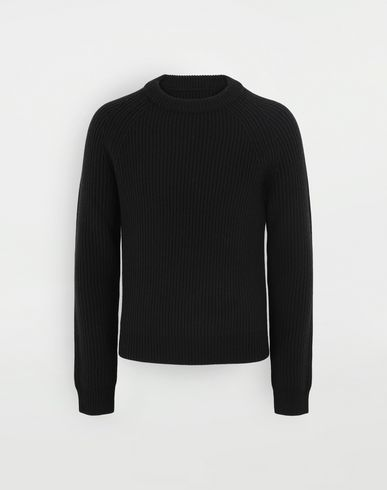 SWEATERS Ribbed sweater  Black