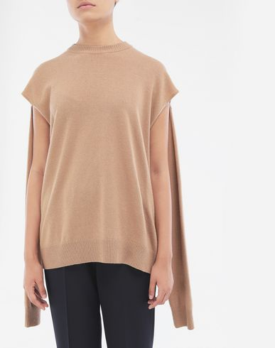 KNITWEAR Multi-wear wool sweater Camel