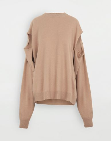 MAISON MARGIELA Multi-wear wool sweater Crewneck sweater Woman f