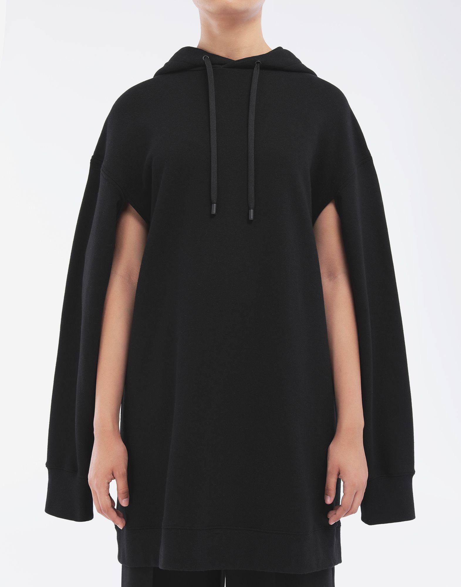 MAISON MARGIELA Long-line hooded sweatshirt Hooded sweatshirt Woman a