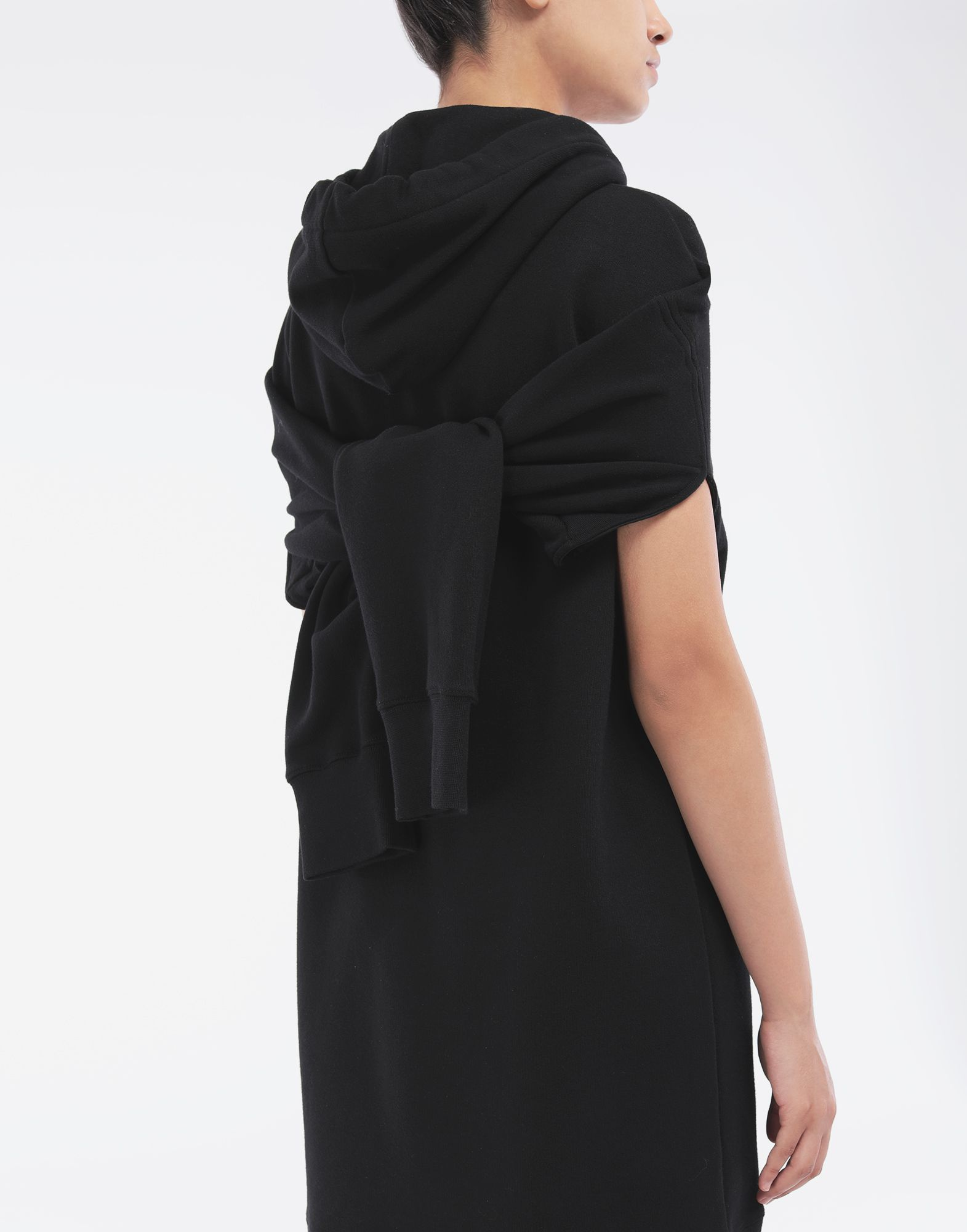 MAISON MARGIELA Long-line hooded sweatshirt Hooded sweatshirt Woman b