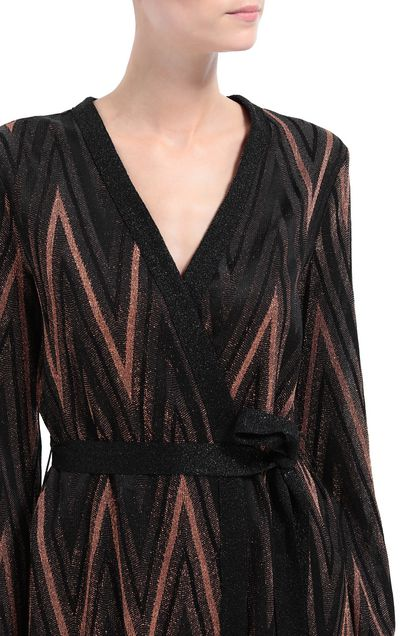 M MISSONI Cardigan Dark brown Woman - Front