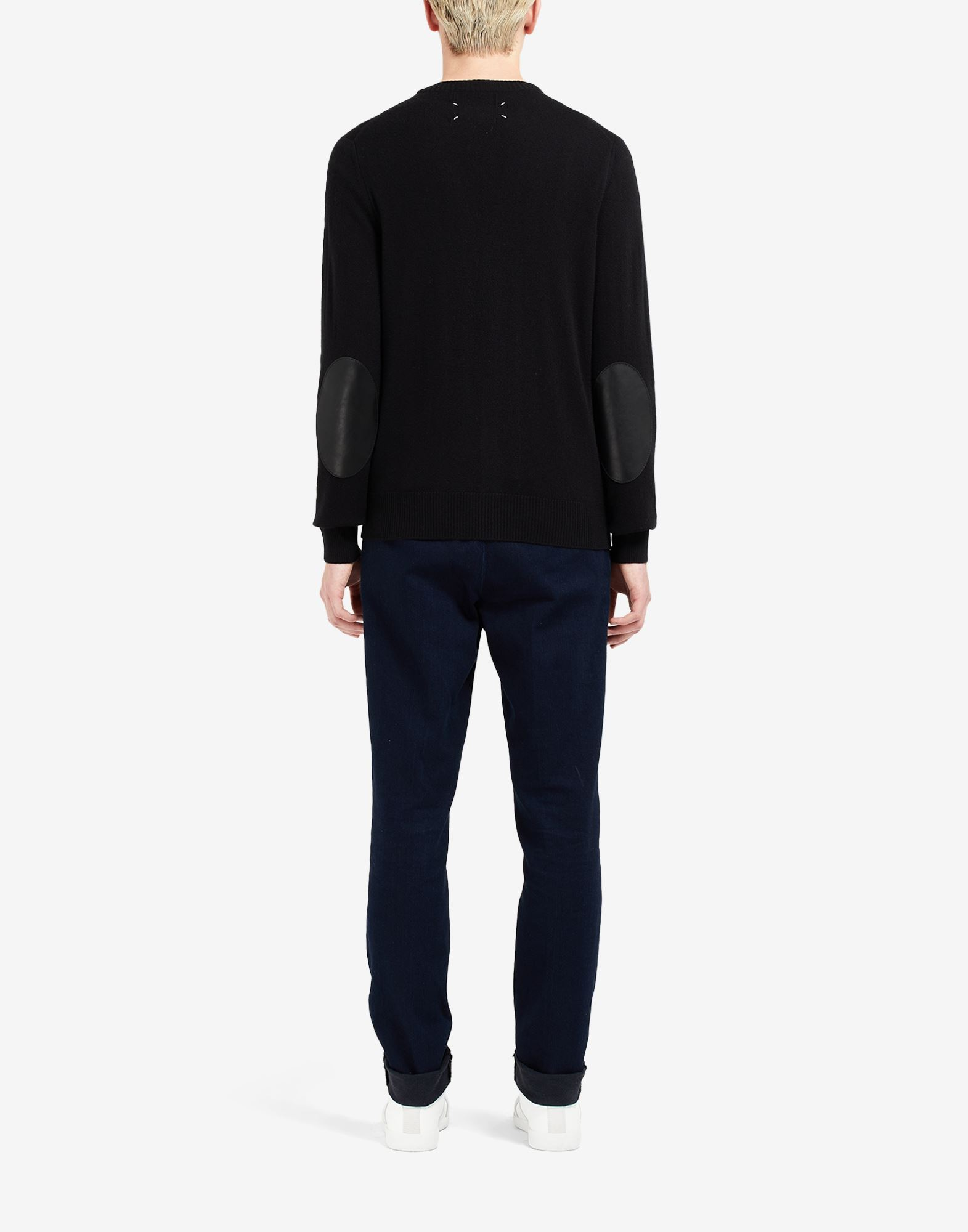 MAISON MARGIELA Leather elbow patch cardigan Cardigan Man e