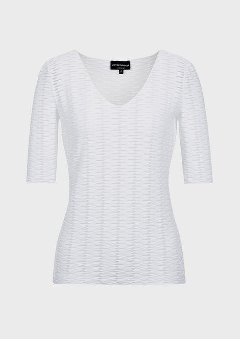 Jacquard jersey with diagonal pattern