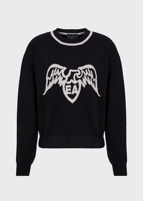 Jersey de cachemir puro satinado con logotipo EA