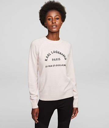 KARL LAGERFELD ADDRESS LOGO SWEATER