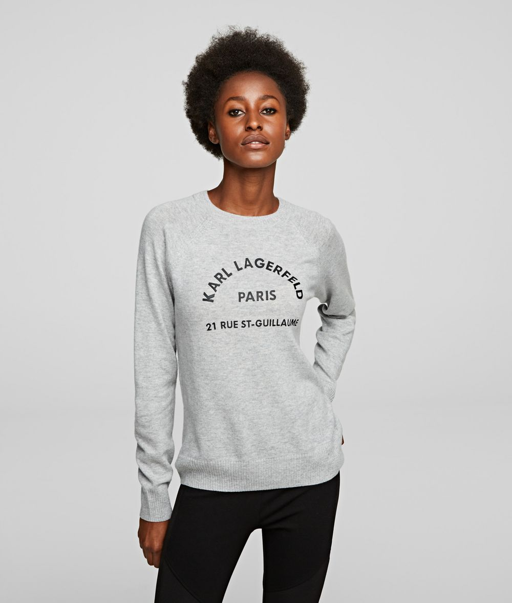KARL LAGERFELD Address Logo Sweater Sweater Woman f