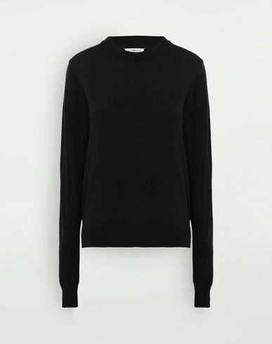 KNITWEAR Elbow patch sweater Black