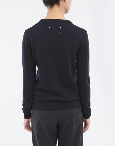 KNITWEAR Elbow patch sweater Blue