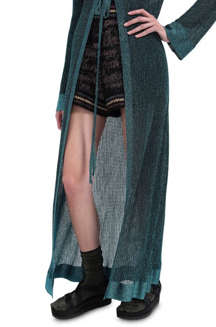 M MISSONI Long cardigan Deep jade Woman - Front
