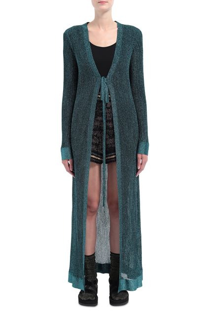 M MISSONI Long cardigan Deep jade Woman - Back