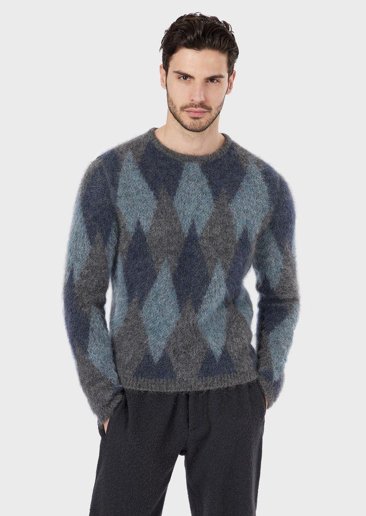 32eb528f7f Diamond-pattern jacquard sweater