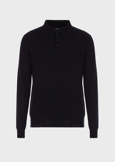 Polo in cashmere knit