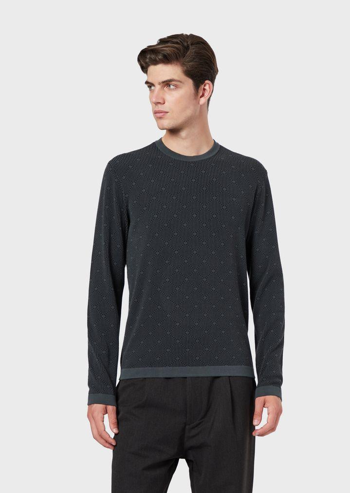 b5274b2b0f Sweater with optical-effect jacquard pattern