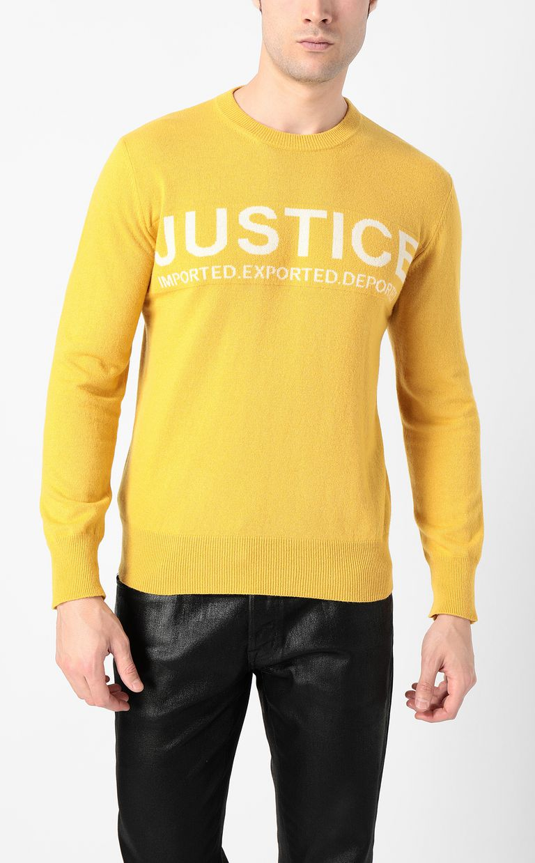 JUST CAVALLI Justice pullover Crewneck sweater Man r