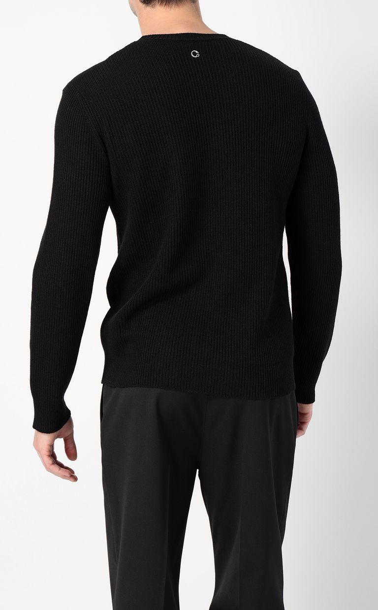 JUST CAVALLI Pullover with animal print Crewneck sweater Man a