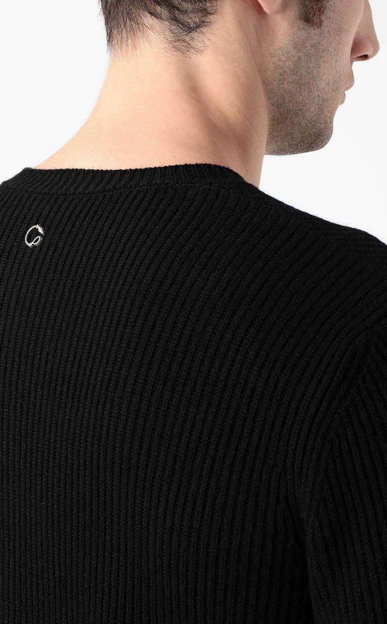 JUST CAVALLI Pullover with animal print Crewneck sweater Man e
