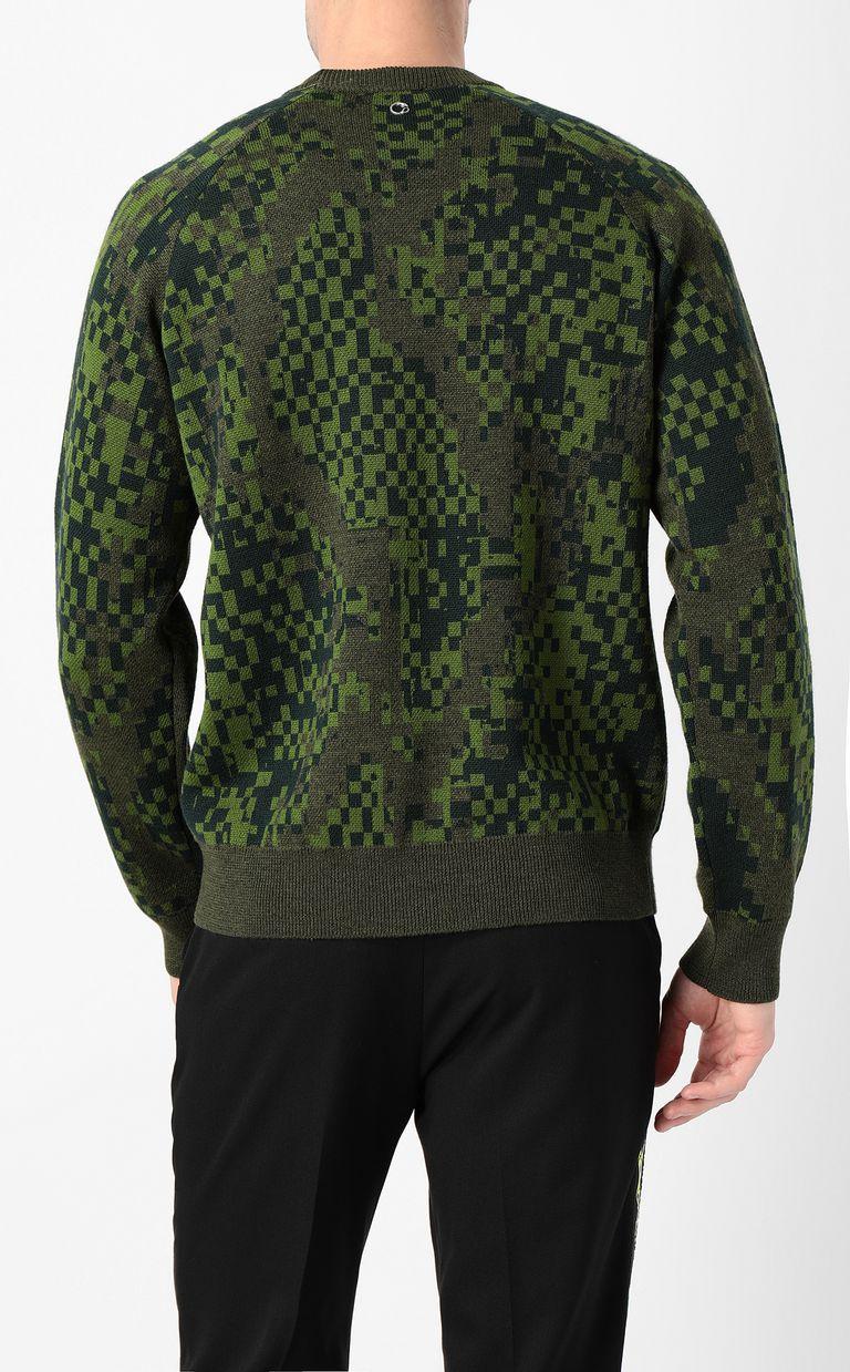 JUST CAVALLI Pixel python pullover Crewneck sweater Man a