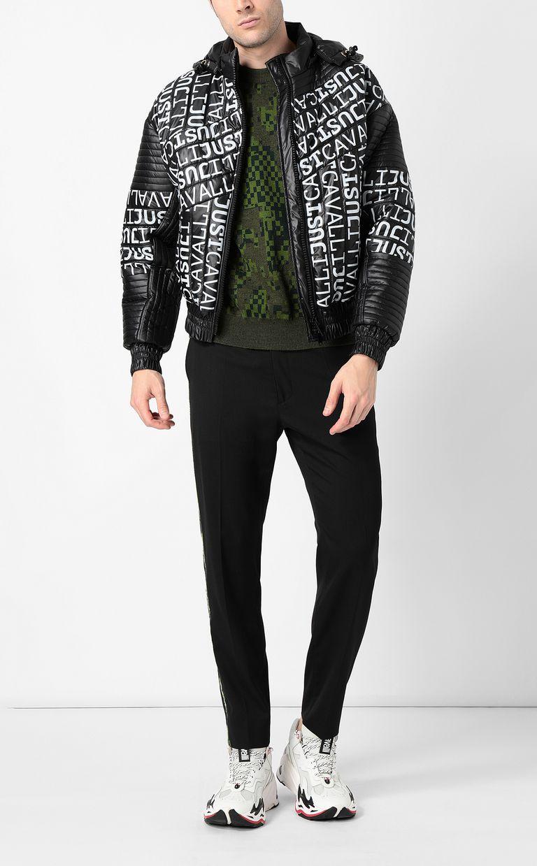 JUST CAVALLI Pixel python pullover Crewneck sweater Man d