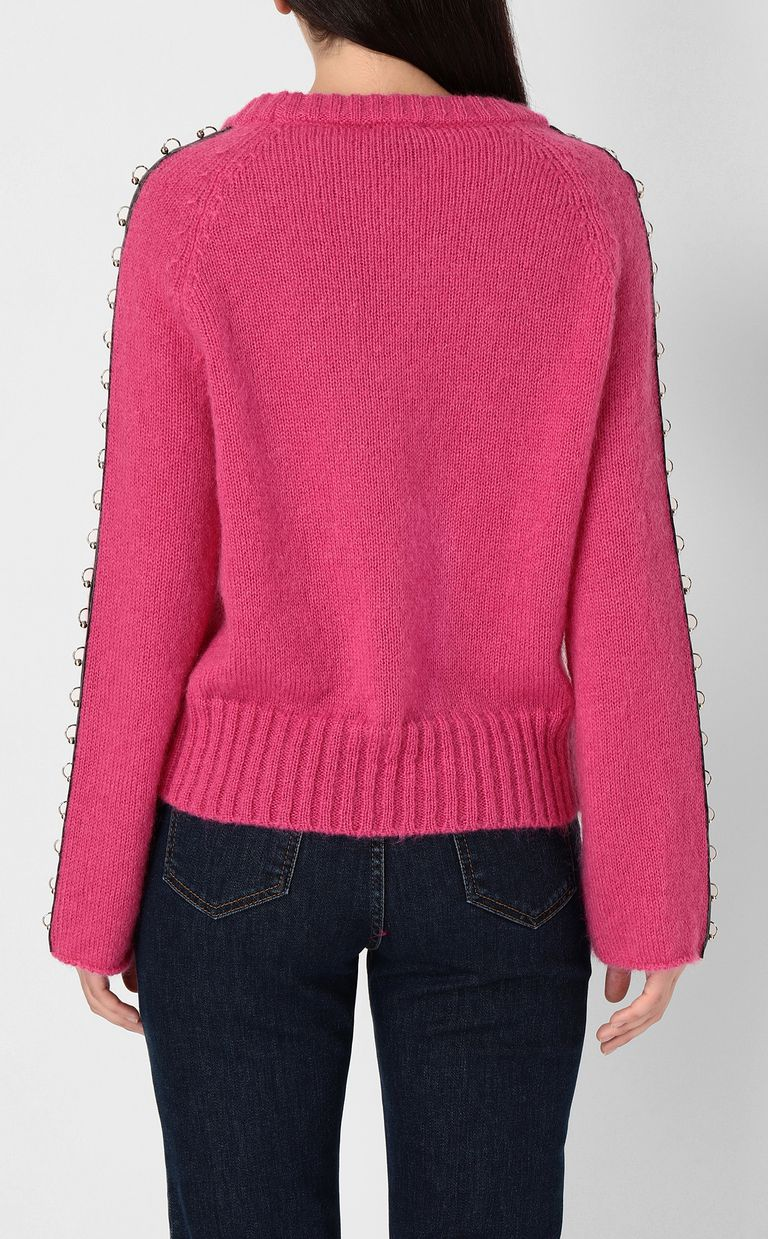 JUST CAVALLI Pullover with pierced detail Crewneck sweater Woman a