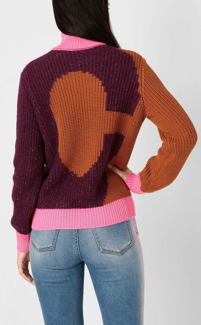 JUST CAVALLI Pullover with logo High neck sweater Woman a