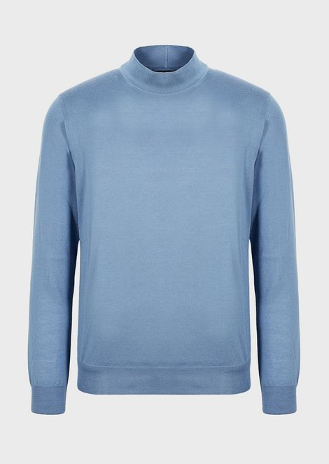Rollneck sweater in pure cashmere