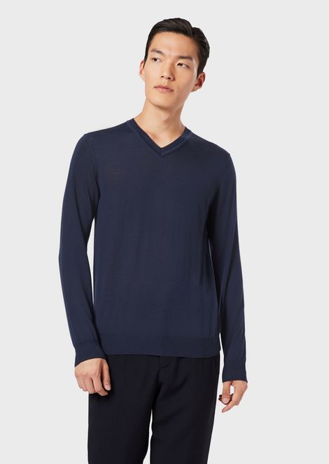 Pure cashmere V-neck sweater