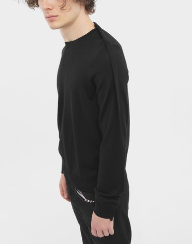 KNITWEAR Outline wool sweater Black