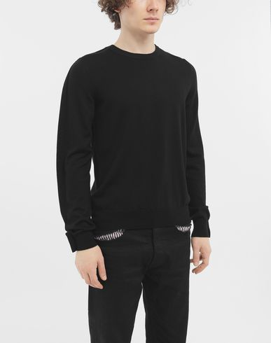 SWEATERS Outline wool sweater Black