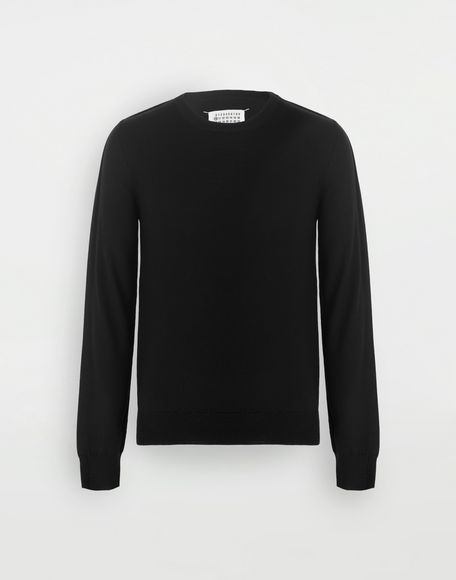MAISON MARGIELA Outline wool sweater Crewneck Man f