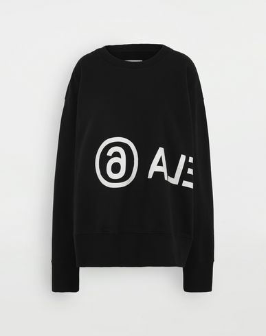 MM6 MAISON MARGIELA Reversed logo sweatshirt Sweatshirt Woman f