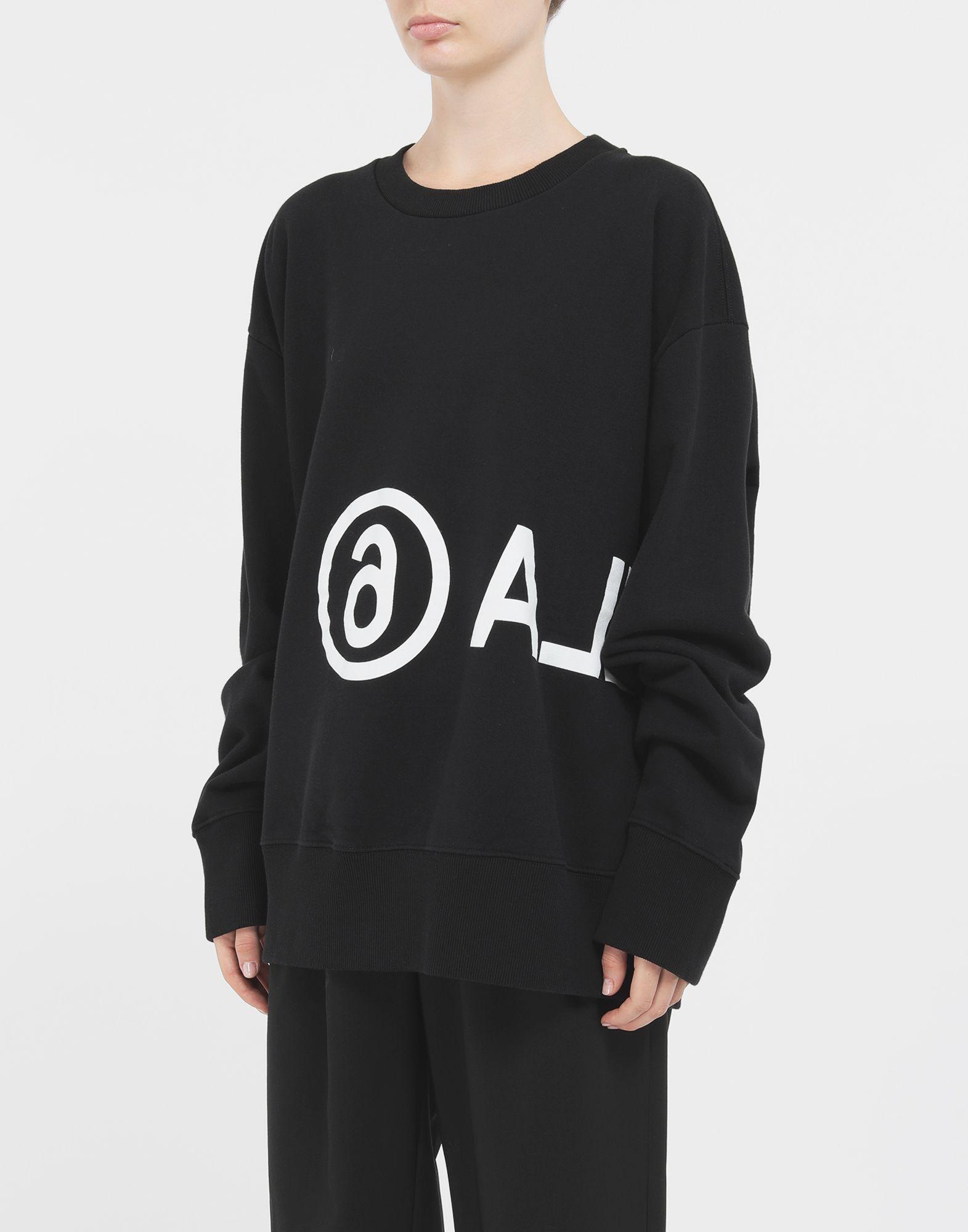 MM6 MAISON MARGIELA Reversed logo sweatshirt Sweatshirt Woman r