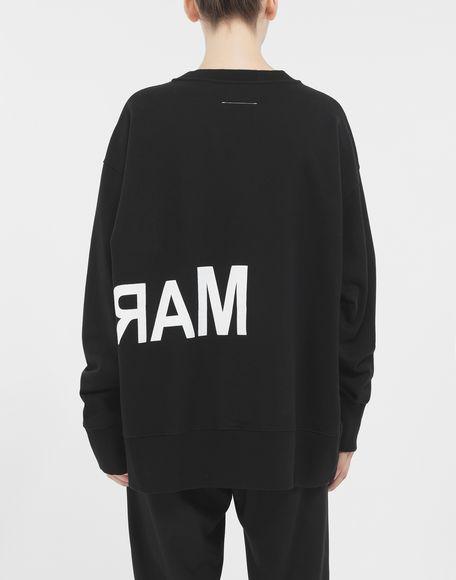 MM6 MAISON MARGIELA Reversed logo sweatshirt Sweatshirt Woman e