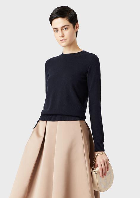 Pure cashmere crew-neck sweater