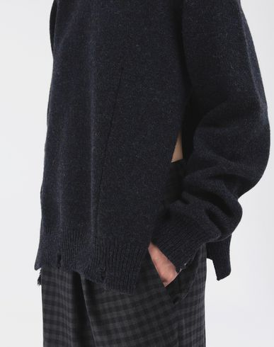 SWEATERS Destroyed wool sweater Blue