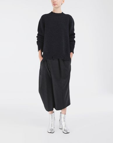 KNITWEAR Destroyed wool sweater Blue