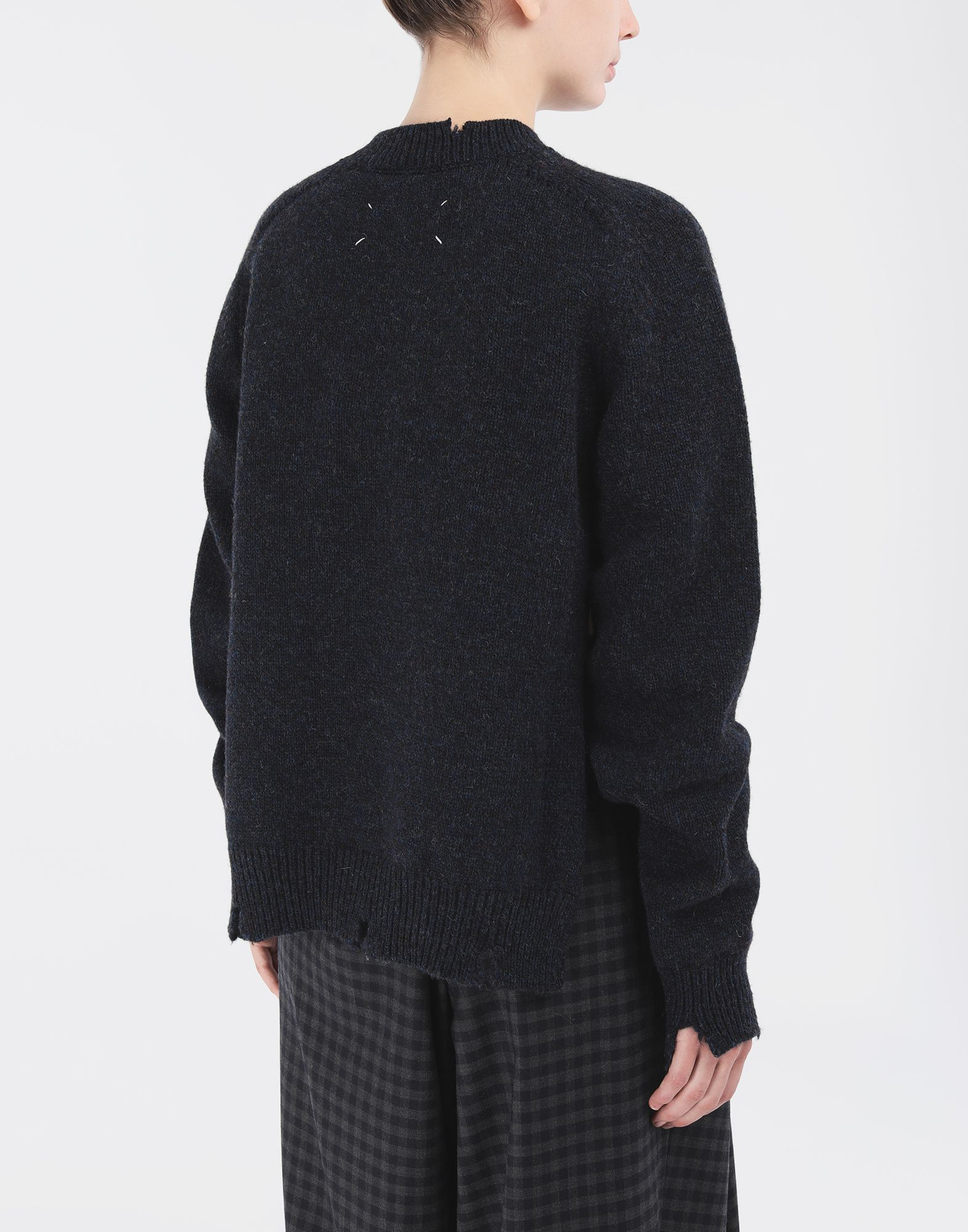 MAISON MARGIELA Destroyed wool sweater Crewneck Woman e