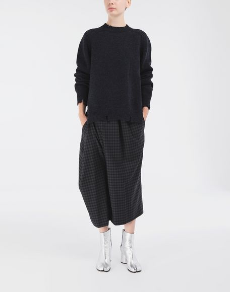 MAISON MARGIELA Destroyed wool sweater Crewneck Woman d