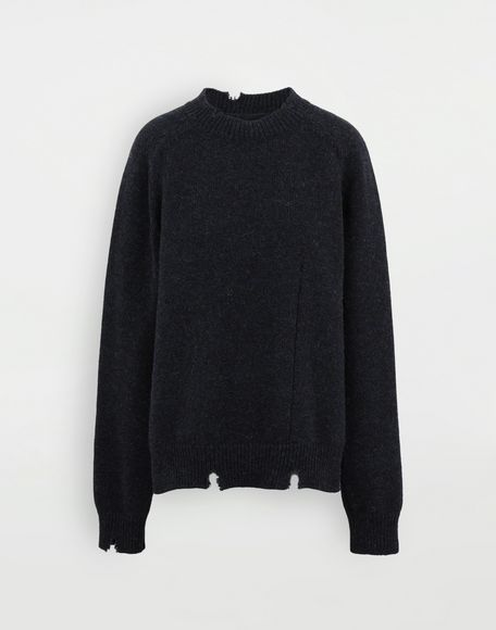 MAISON MARGIELA Destroyed wool sweater Crewneck Woman f