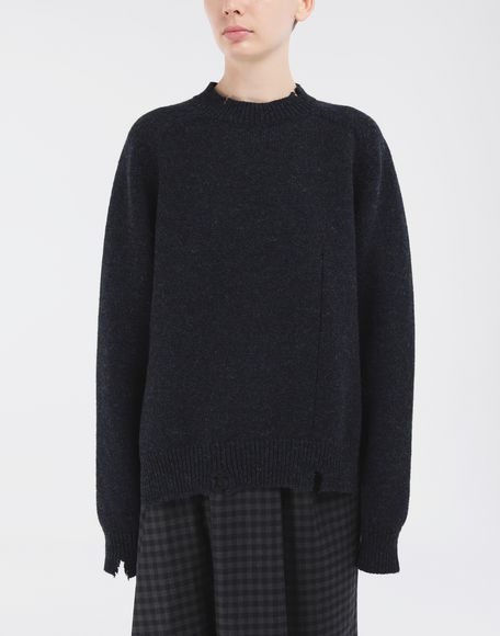 MAISON MARGIELA Destroyed wool sweater Crewneck Woman r