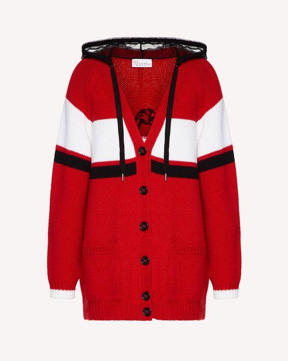 REDValentino Grand cardigan en laine avec motif jacquard «Rebel»