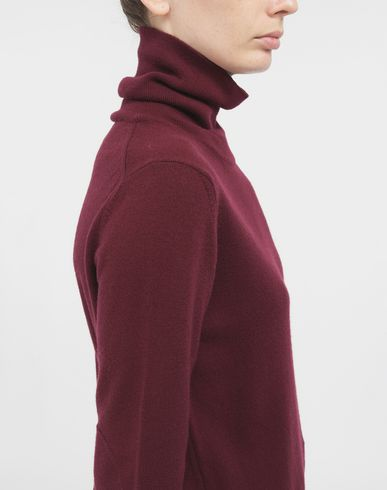 KNITWEAR High-neck sweater Maroon