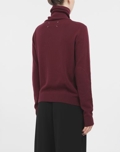 SWEATERS High-neck sweater Maroon