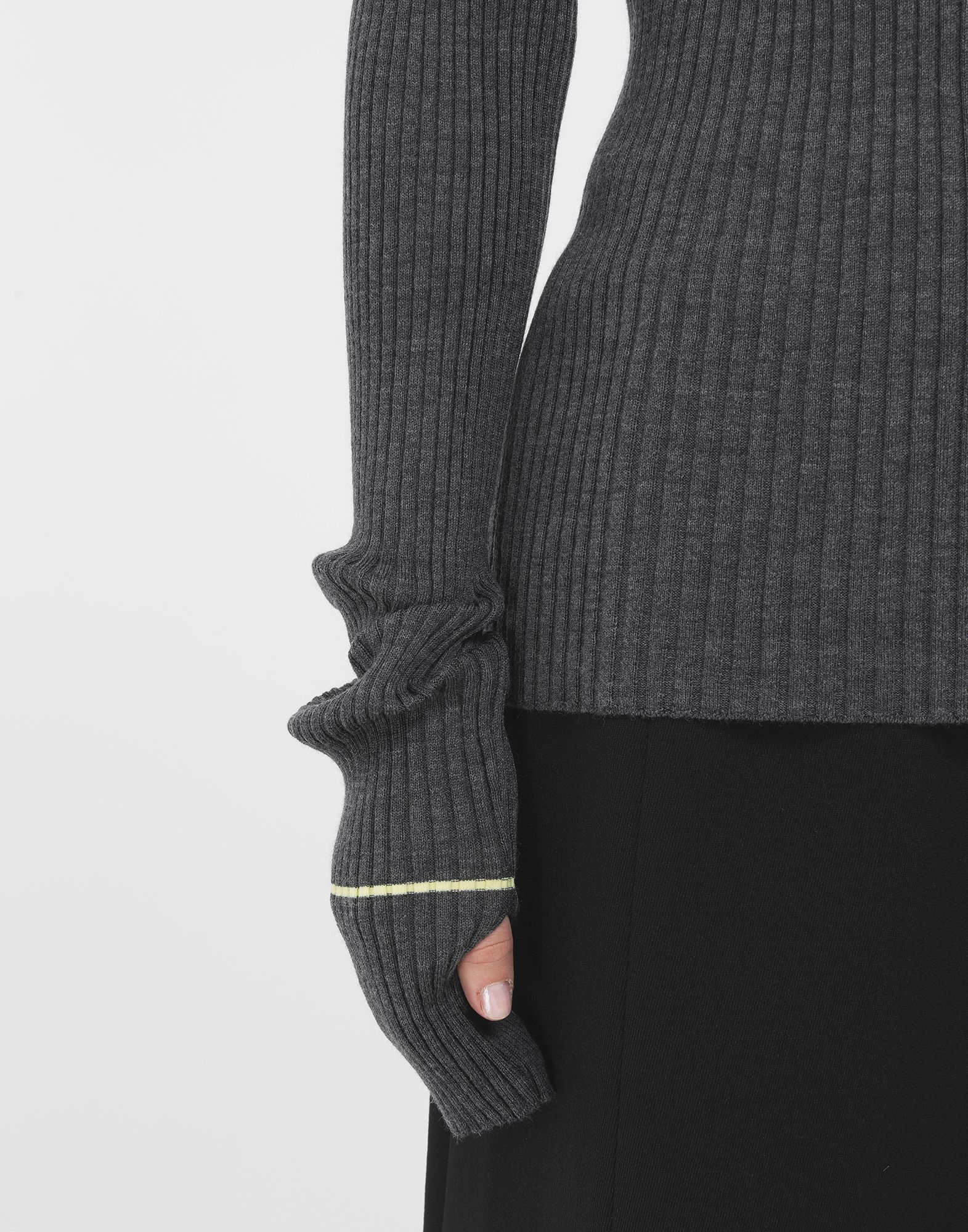 MAISON MARGIELA Stripe wool sweater High neck Woman b