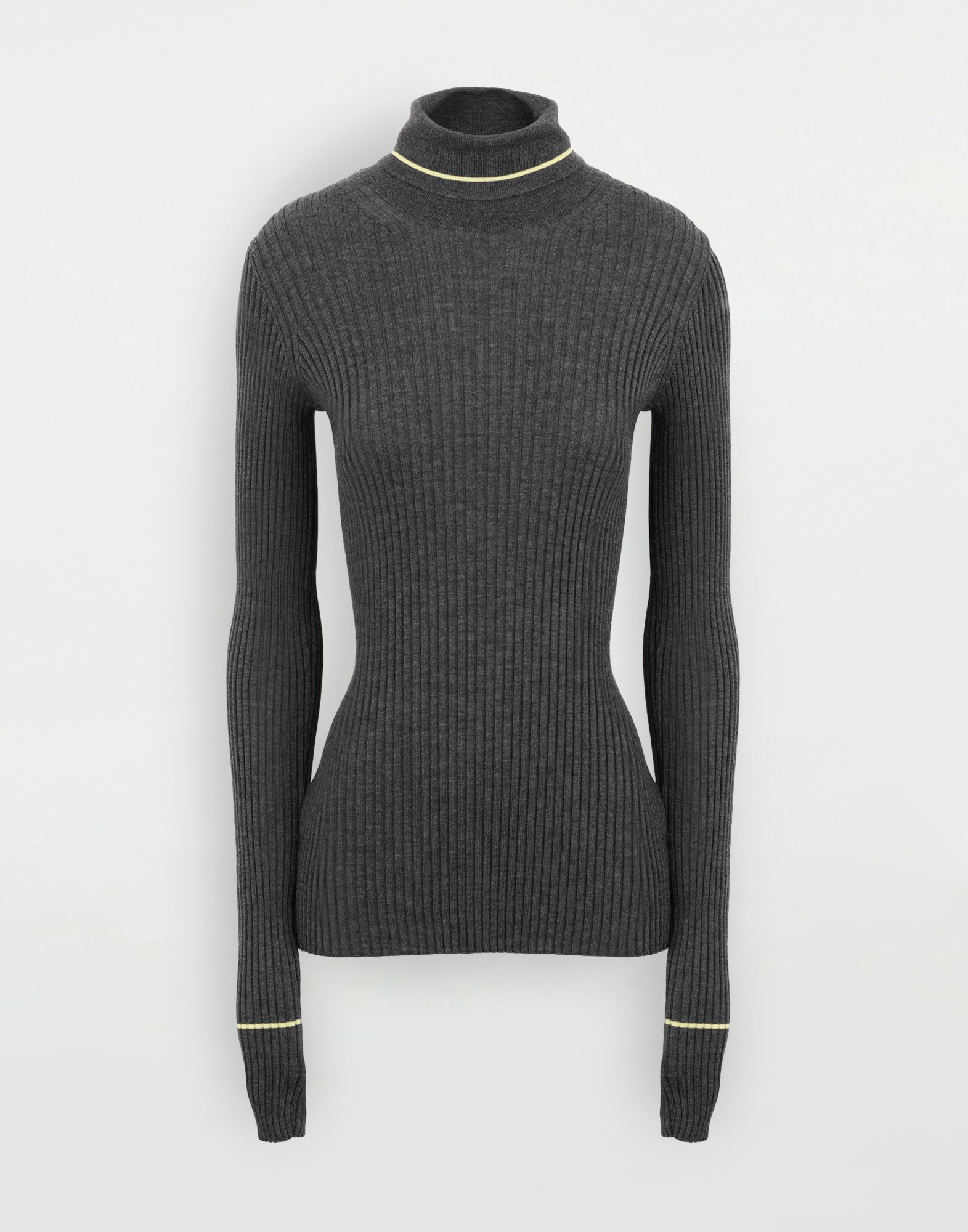 MAISON MARGIELA Stripe wool sweater High neck Woman f