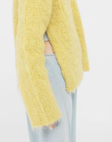 SWEATERS Mohair sweater Yellow