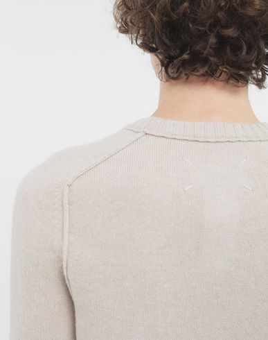SWEATERS Elbow patch wool sweater Beige