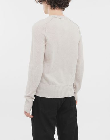 KNITWEAR Elbow patch wool sweater Beige
