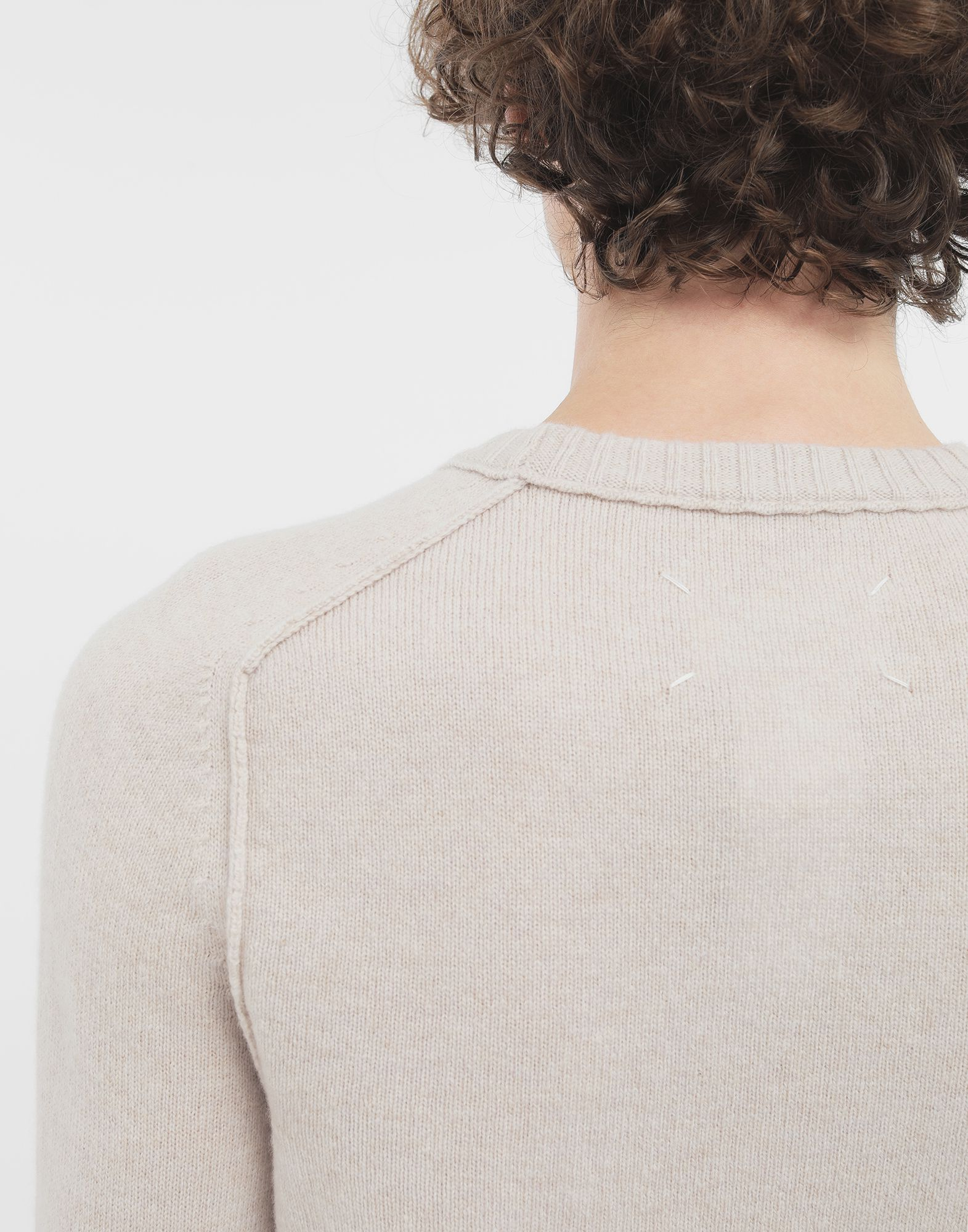 MAISON MARGIELA Elbow patch wool sweater Crewneck Man a