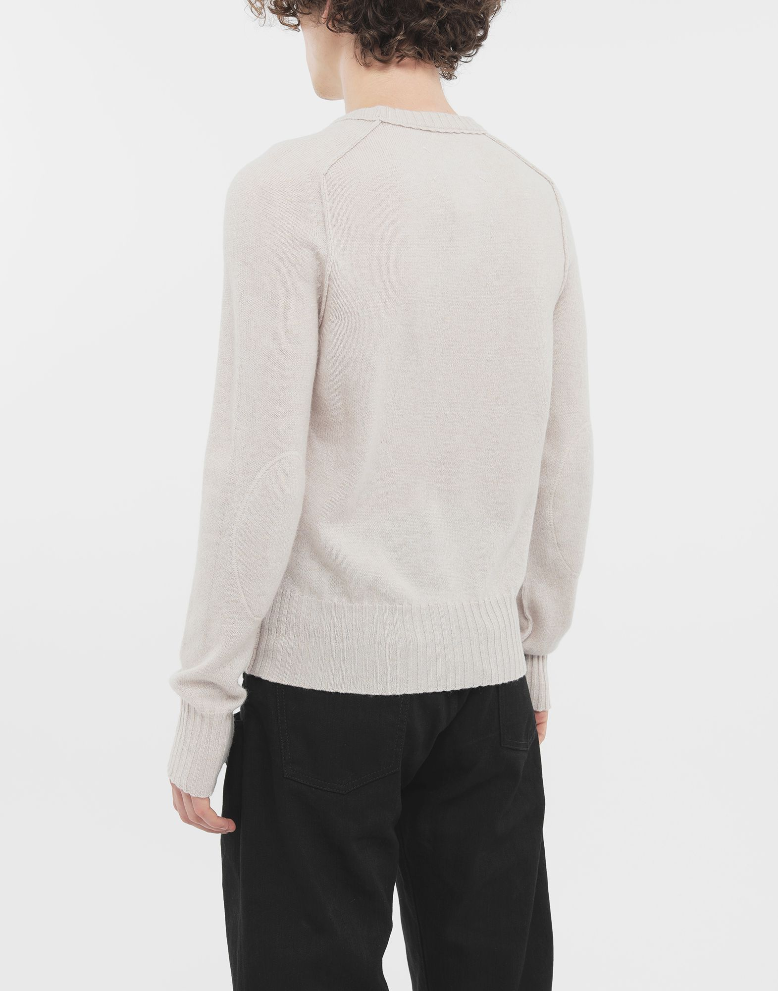 MAISON MARGIELA Elbow patch wool sweater Crewneck Man e
